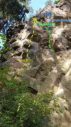 Rock Climbing Photo: Upper left Jungle topo