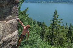 Rock Climbing Photo: Brandon Aye on Masterpiece. @cruxpunks