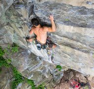Rock Climbing Photo: Jason halfway up Step Child. @Cruxpunks