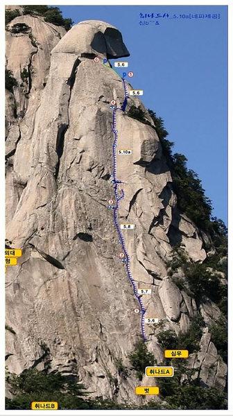 Rock Climbing Photo: Topo Image