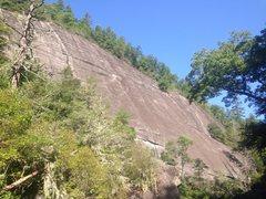 Rock Climbing Photo: Bona's Defeat wall Blackened groove P3 seen in...