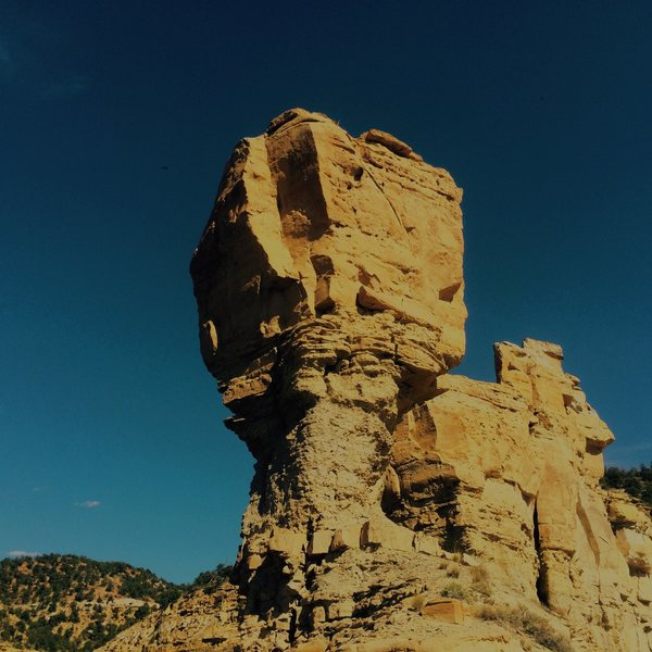 From the base of balanced rock