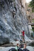 Rock Climbing Photo: Jordan's rethinking his decision to do Irie Gi...