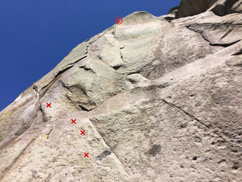 Rock Climbing Photo: Brexit - 4 bolts lead to the flake. Photo is fores...