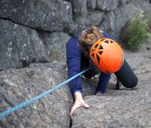 Rock Climbing Photo: The last moves before the anchor.