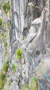 Rock Climbing Photo: Jo following P2
