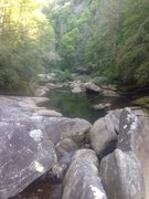 Rock Climbing Photo: Tuckasegee river bed