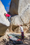 Rock Climbing Photo: After rocking over the corner about to climb the f...