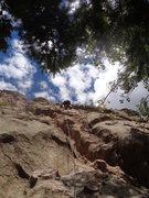 Rock Climbing Photo: Left of KFC, 5.7 mixed route.
