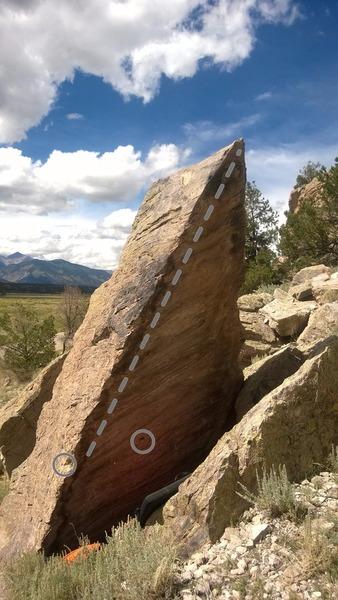 Rock Climbing Photo: The Blade, V2+.