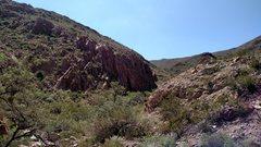 Rock Climbing Photo: Approaching the wall.