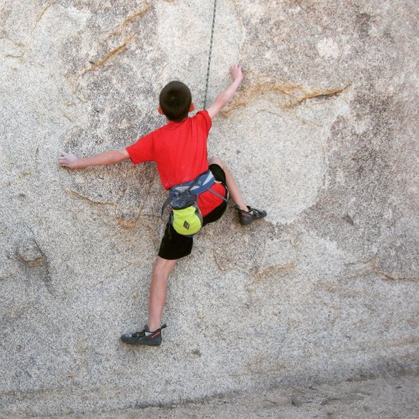 Old picture of 12 year old me climbing Count Dracula 5.10d