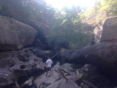 Rock Climbing Photo: walkin in the river bed