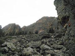 Rock Climbing Photo: Upper Great Face.