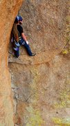 Rock Climbing Photo: Josh gets a no hands rest before the business star...
