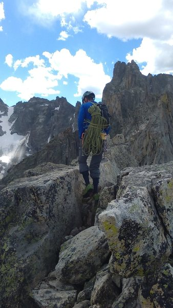 Rock Climbing Photo: Starting the descent. The summit is truly classic....