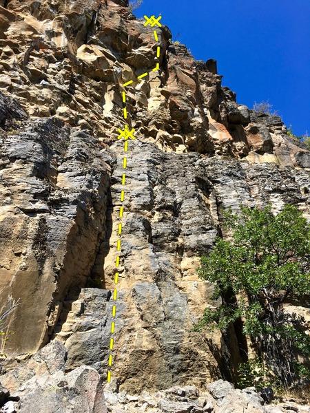 Rock Climbing Photo: Mass Wasting