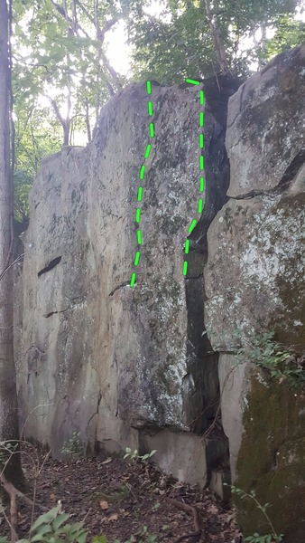 Rock Climbing Photo: Right side of the Boulder. Climb the arete or move...