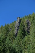 Rock Climbing Photo: Santiam Pinnacle from road.