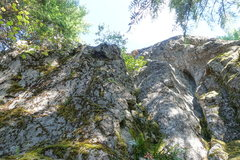 Rock Climbing Photo: Looking up start of P1