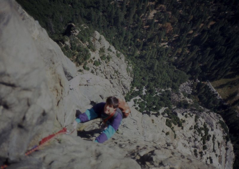 Eric Collins high up on East Buttress El Cap