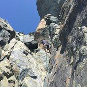 Rock Climbing Photo: PB in the 5.6 corner/gully start