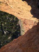 Rock Climbing Photo: Chimney up top