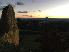 Rock Climbing Photo: summit sunset