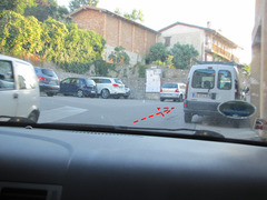Rock Climbing Photo: The 2nd parking lot mentioned. Follow the arrow.