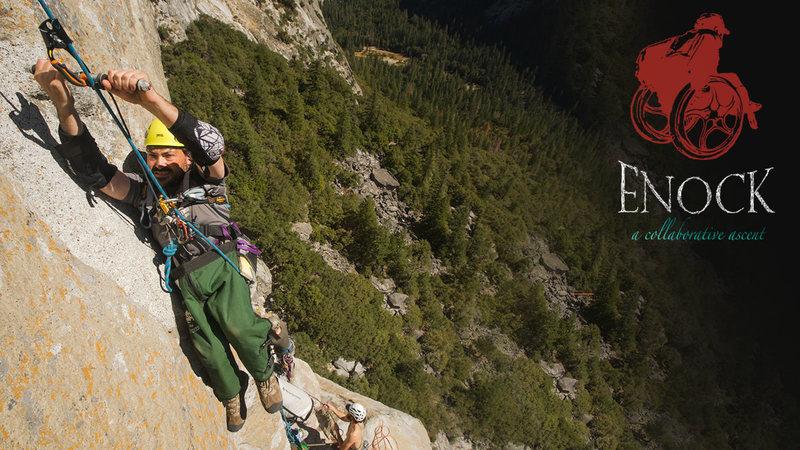 Enock Gliggen on a training trip up Astroman last year in Yosemite