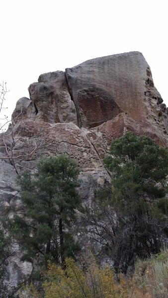 Rock Climbing Photo: The crack. Crux comes when getting into the pod ab...