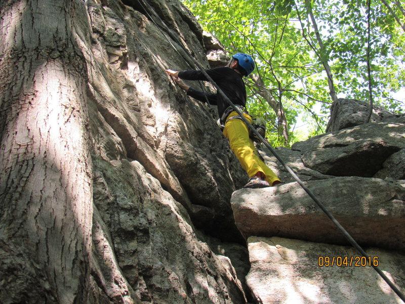 Rock Climbing Photo: On the ledge