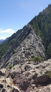 Rock Climbing Photo: View (south?) from the top. Notice the smaller fal...