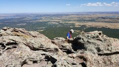 Rock Climbing Photo: View from the top. Notice the cordelette  over the...