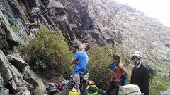 Rock Climbing Photo: Nevermind the rain, Start the send train!