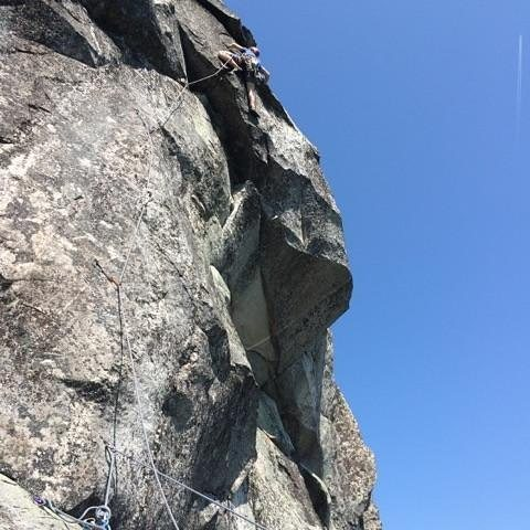 just past the crux