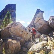 Rock Climbing Photo: Entering The Blocks.