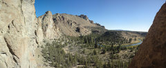 Rock Climbing Photo: The good part of this route: The view from the anc...