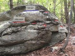 Rock Climbing Photo: The Dill Pickle problem. Start is on far right of ...