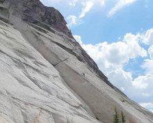 Rock Climbing Photo: Climber on Lambda^3