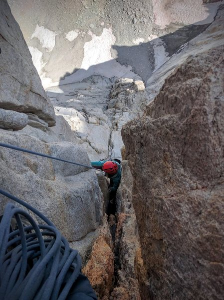 """Following the crux """"OW"""" pitch. Not that bad really. Lots of features in the back and tons of good, varied pro."""