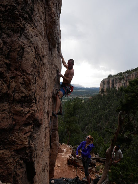 Rock Climbing Photo: Getting started on Pueblo Gringos.