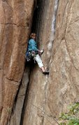 Rock Climbing Photo: Laurie Dallenbach stemmin' the start of the aw...
