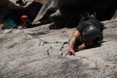 Rock Climbing Photo: Brian Braunstein Stitchin' it up
