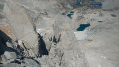 Rock Climbing Photo: Looking toward the North Arete as it nearly joins ...
