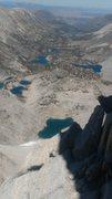Rock Climbing Photo: Looking toward Little Lakes Valley from ridge top.