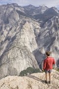 Rock Climbing Photo: from the top of tehipite, gorge of despair seems a...