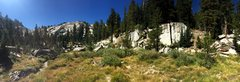 Rock Climbing Photo: Unknown crack located on the right. Unicorn Peak c...