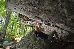"""Rock Climbing Photo: Keith Shockley on """"Nancy With an E""""(V7)"""