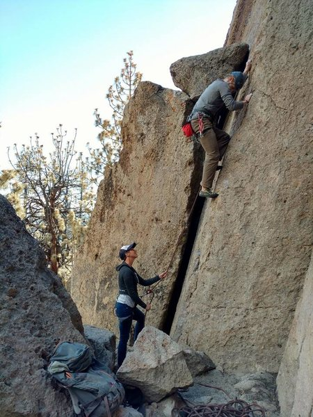 Leading some routes at Clark Canyon